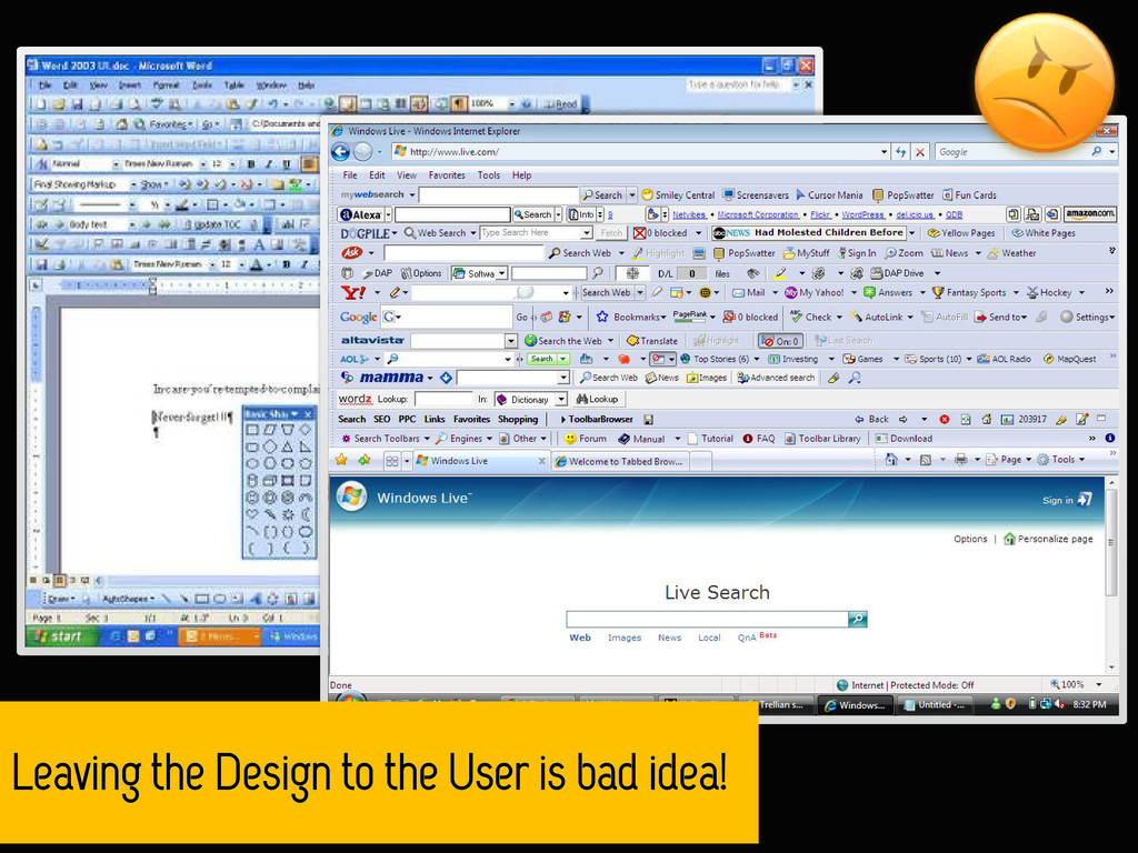 Leaving the Design to the User is bad idea!