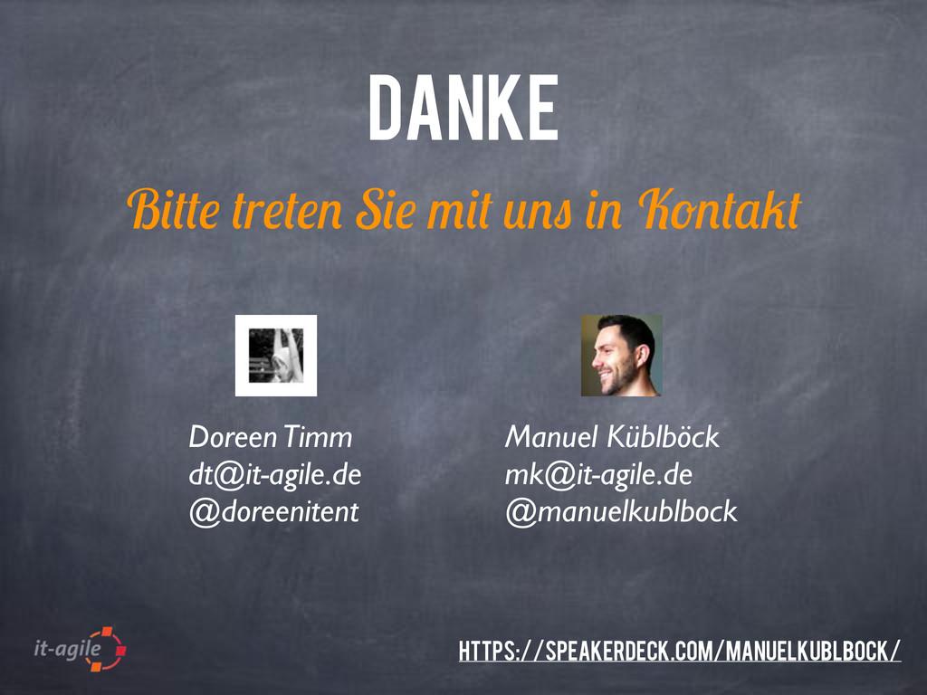 B r S K DANKE Manuel Küblböck mk@it-agile.de @m...