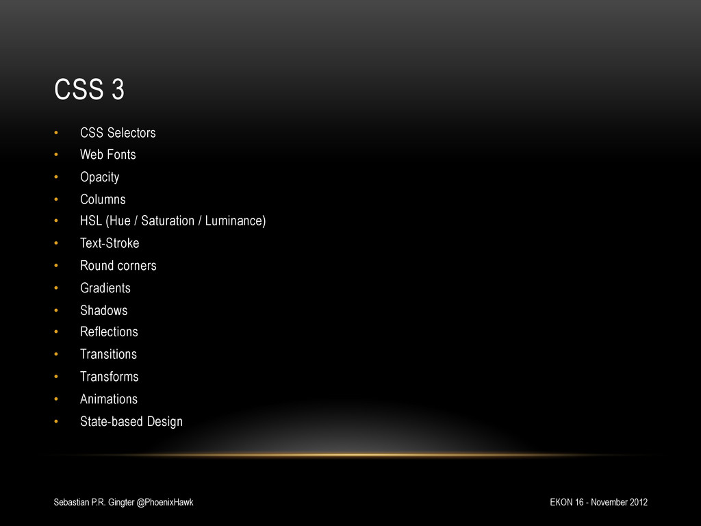 CSS 3 EKON 16 - November 2012 Sebastian P.R. Gi...