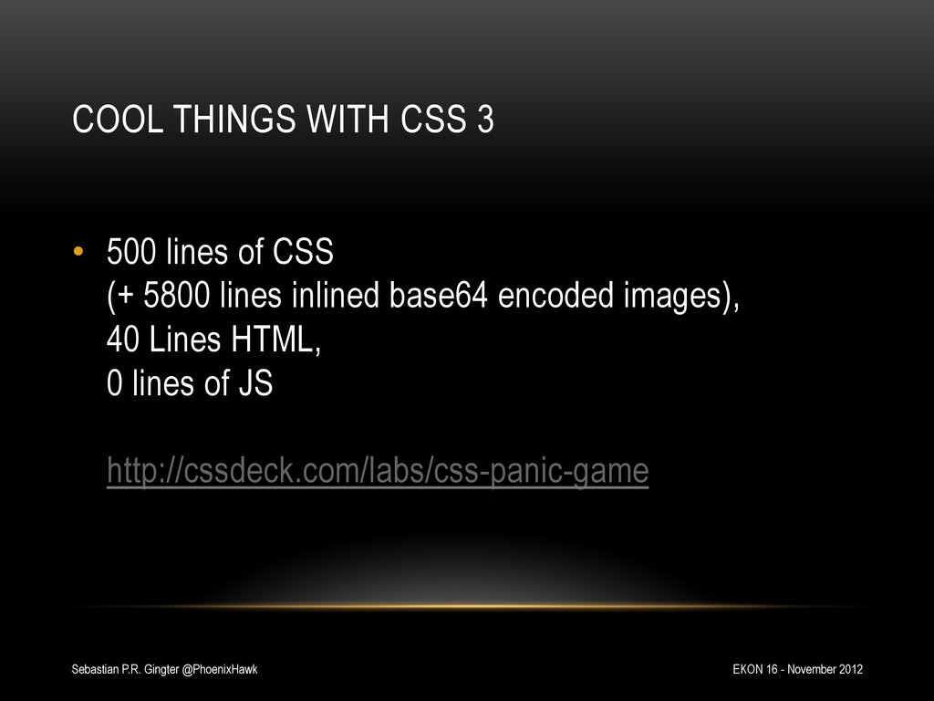 COOL THINGS WITH CSS 3 EKON 16 - November 2012 ...