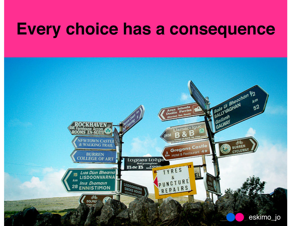 Every choice has a consequence eskimo_jo