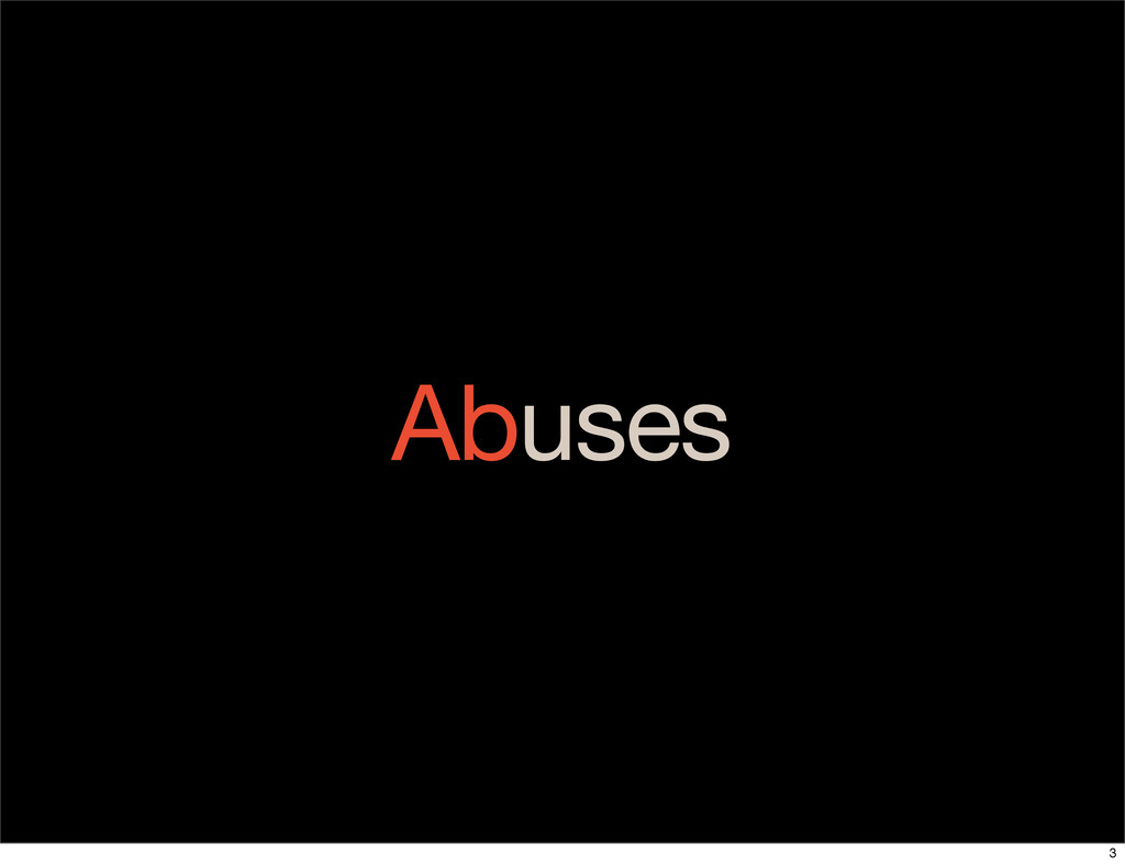Abuses 3