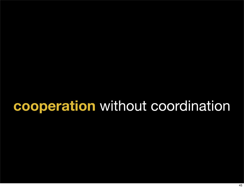cooperation without coordination 45