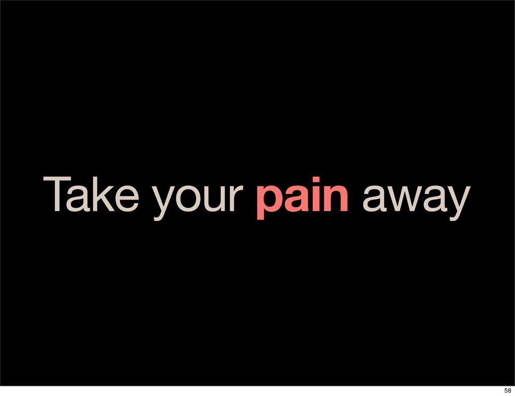 Take your pain away 58