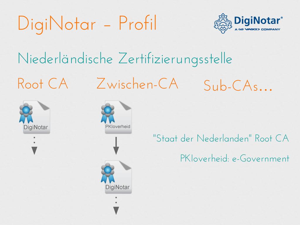 DigiNotar – Profil Niederländische Zertifizieru...