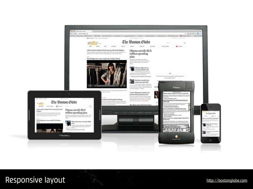 Responsive layout h p://bostonglobe.com