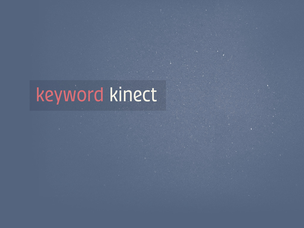 keyword kinect