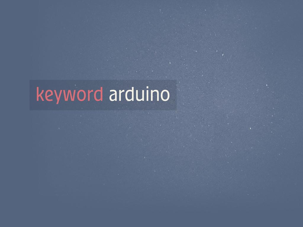 keyword arduino