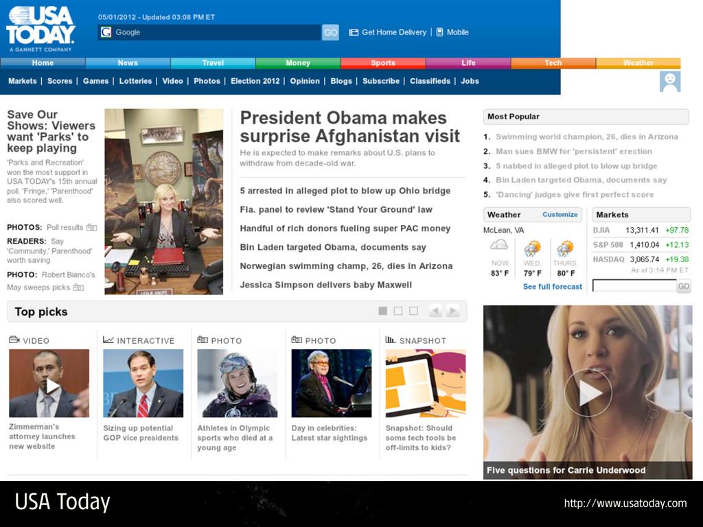 USA Today h p://www.usatoday.com