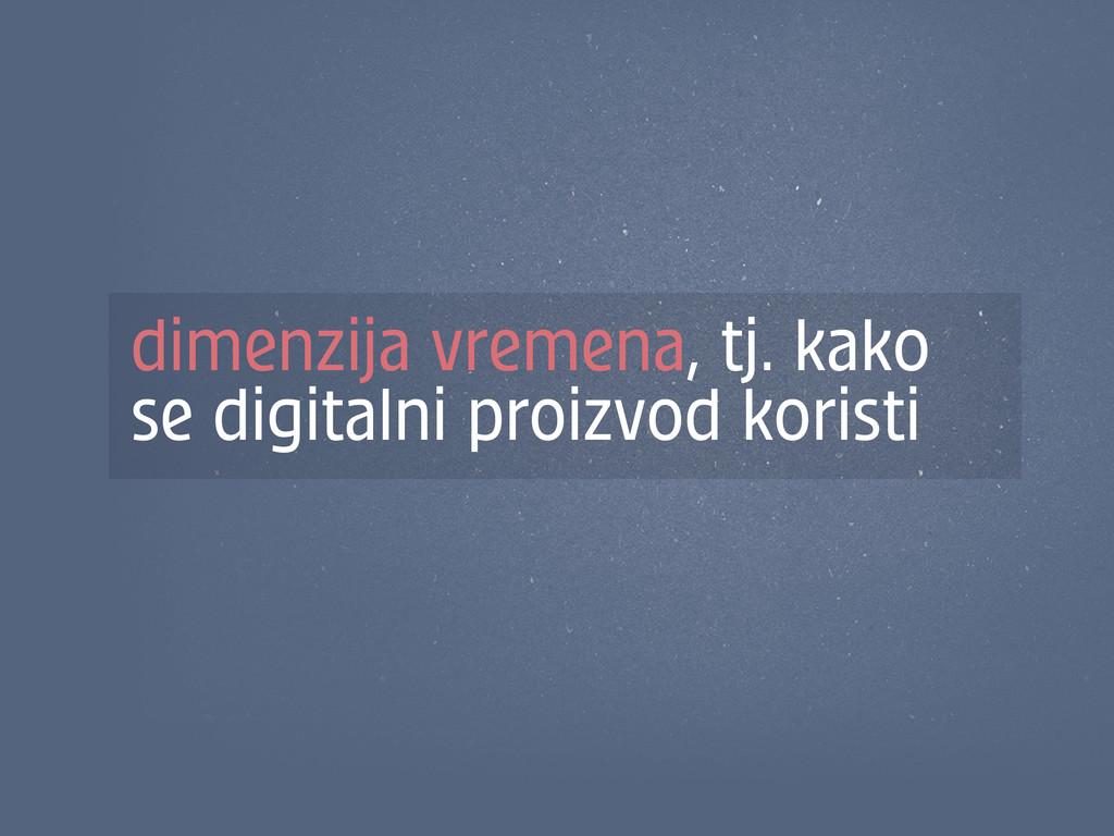 dimenzija vremena, tj. kako se digitalni proizv...