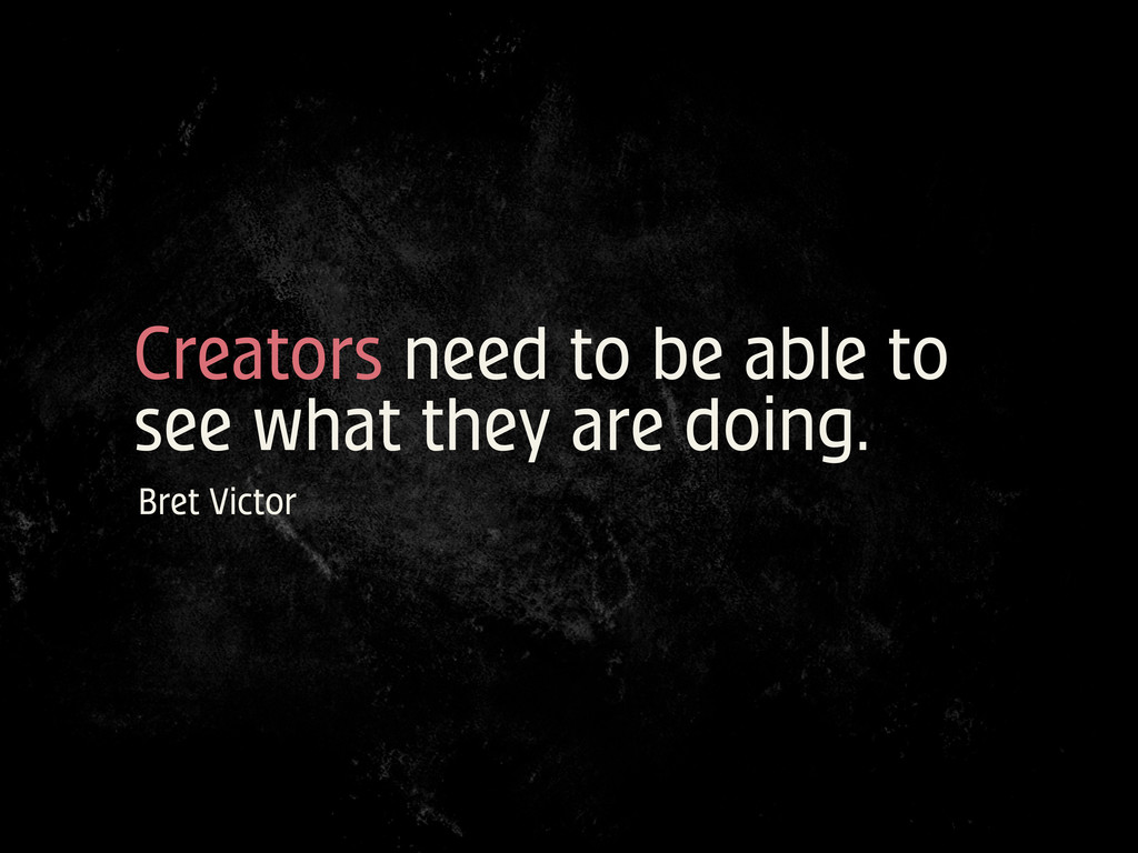 Creators need to be able to see what they are d...