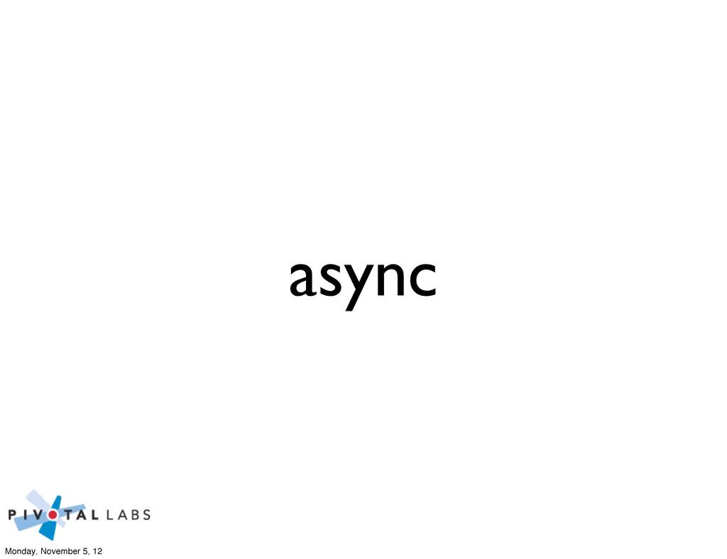 async Monday, November 5, 12