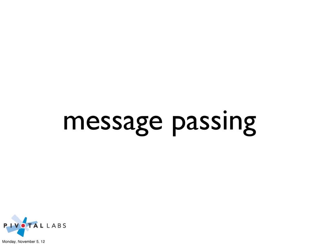 message passing Monday, November 5, 12