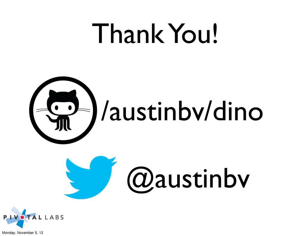 /austinbv/dino @austinbv Thank You! Monday, Nov...