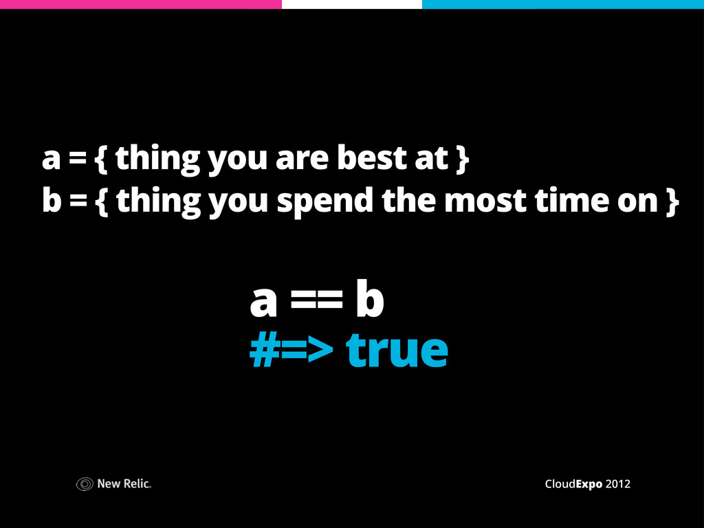 CloudExpo 2012 a = { thing you are best at } b ...