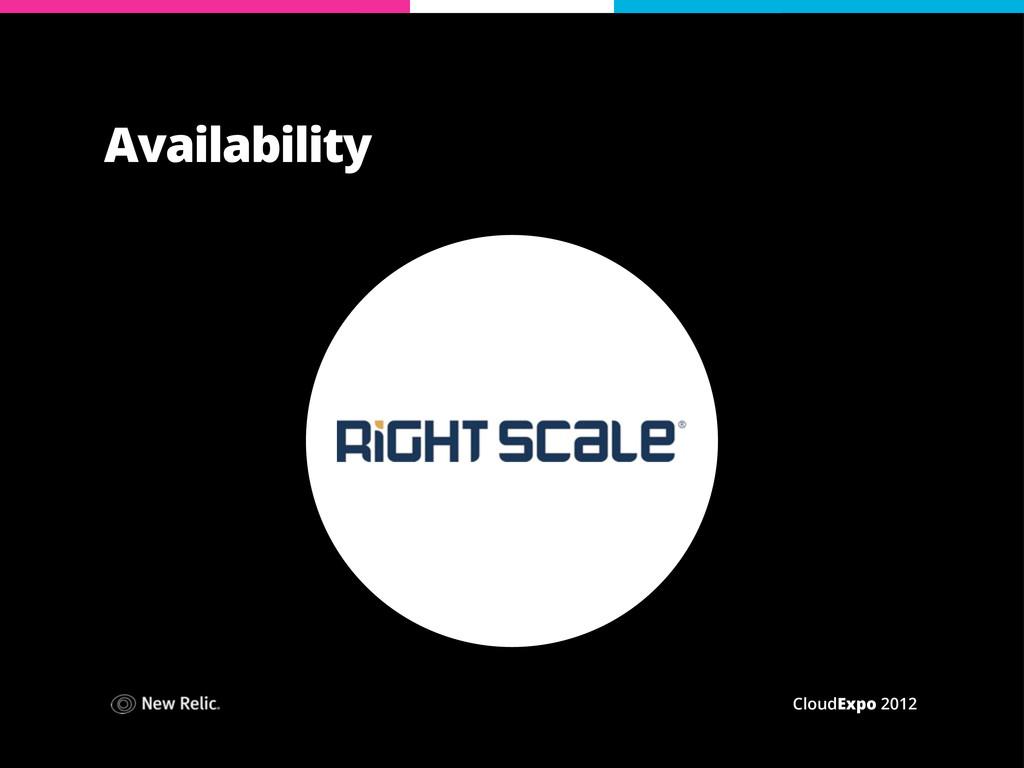 CloudExpo 2012 Availability