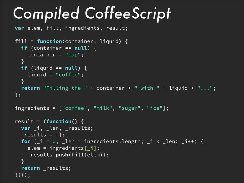 Compiled CoffeeScript var elem, fill, ingredien...