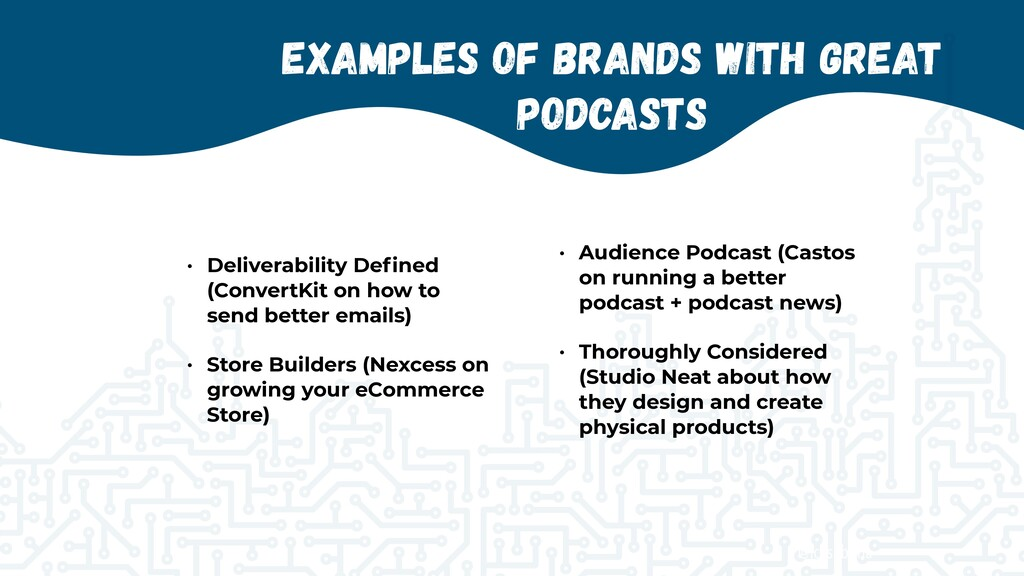 @jcasabona Examples of Brands with Great Podcas...
