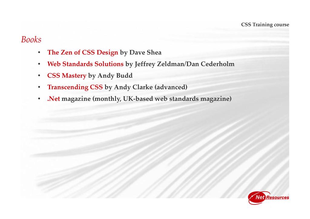 CSS Training course Books • The Zen of CSS Desi...