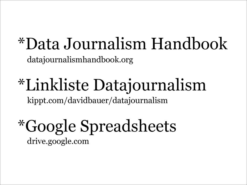 *Data Journalism Handbook *Linkliste Datajourna...
