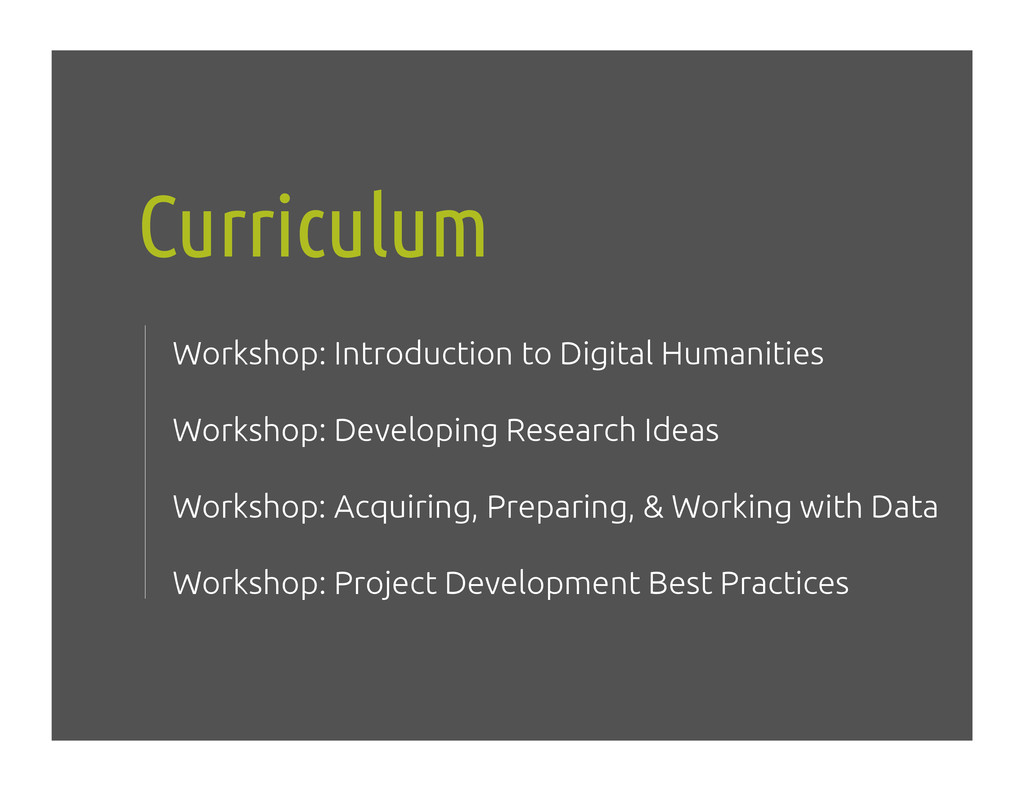 Curriculum! Workshop: Introduction to Digital H...