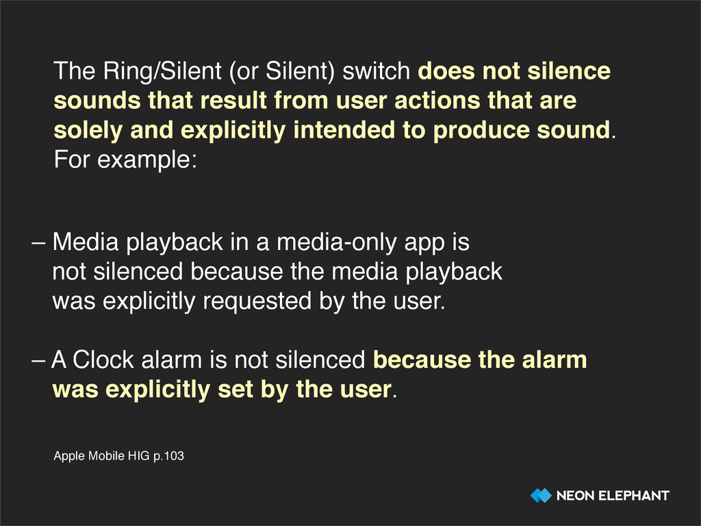 The Ring/Silent (or Silent) switch does not sil...