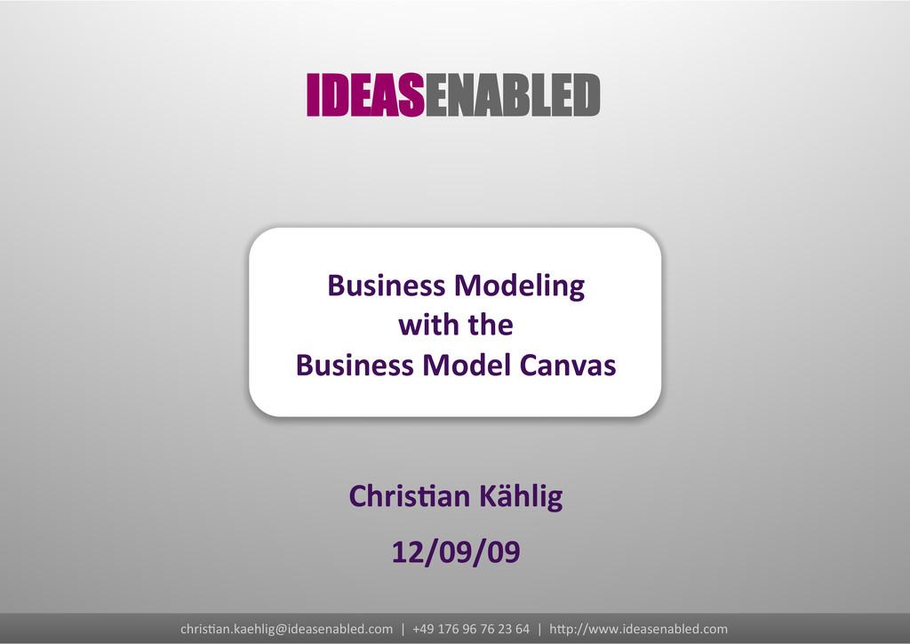 chris&an.kaehlig@ideasenabled.com  | ...