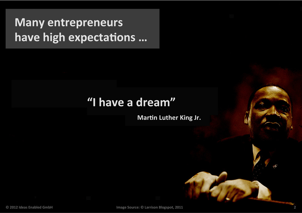 Many entrepreneurs  have high expec...