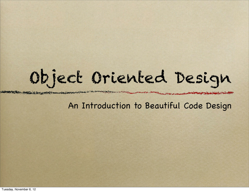 Object Oriented Design An Introduction to Beaut...