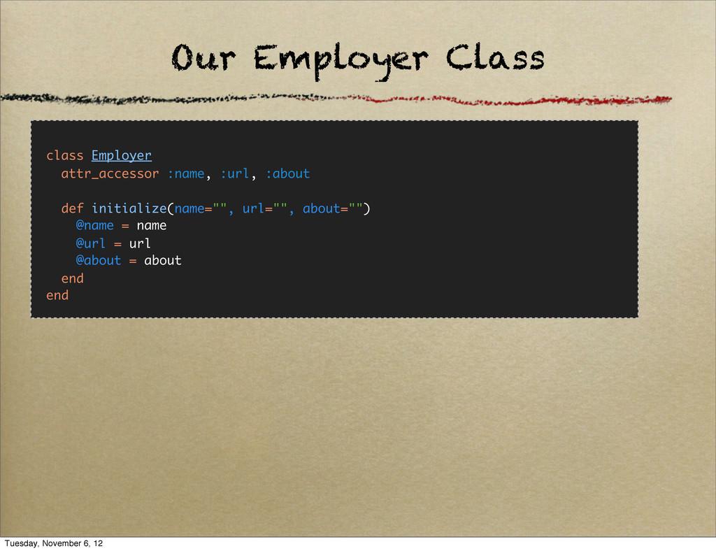 class Employer attr_accessor :name, :url, :abou...