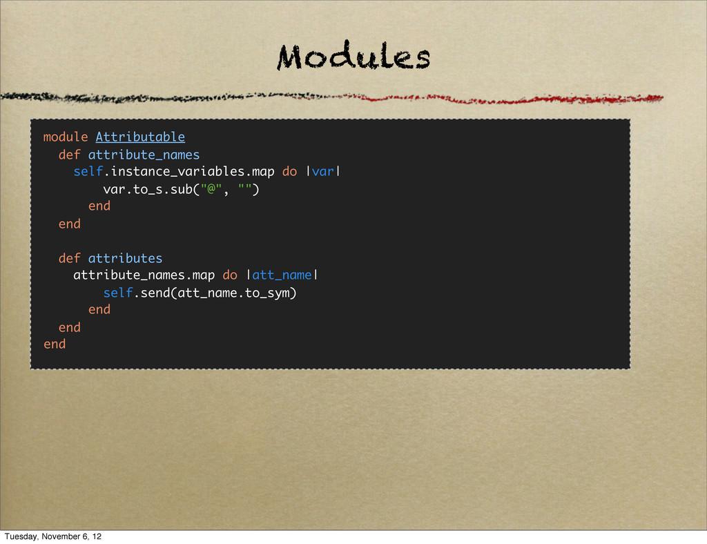 Modules module Attributable def attribute_names...