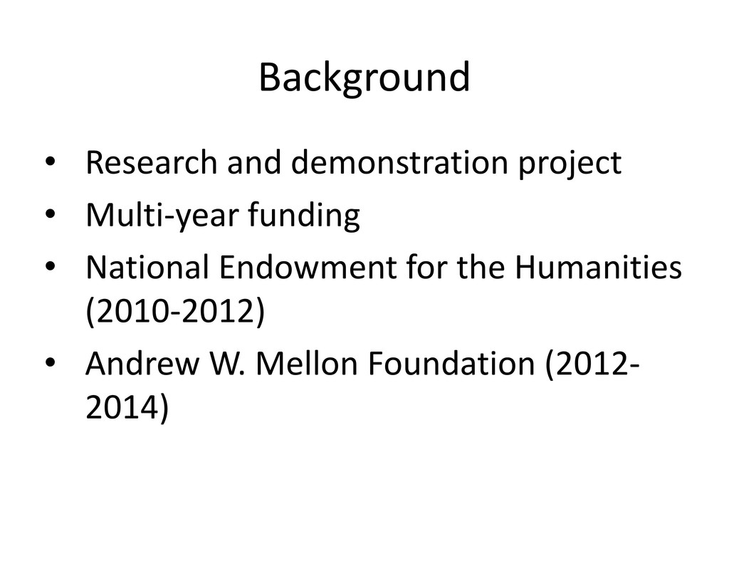 Background Background • Researchanddemonstrat...
