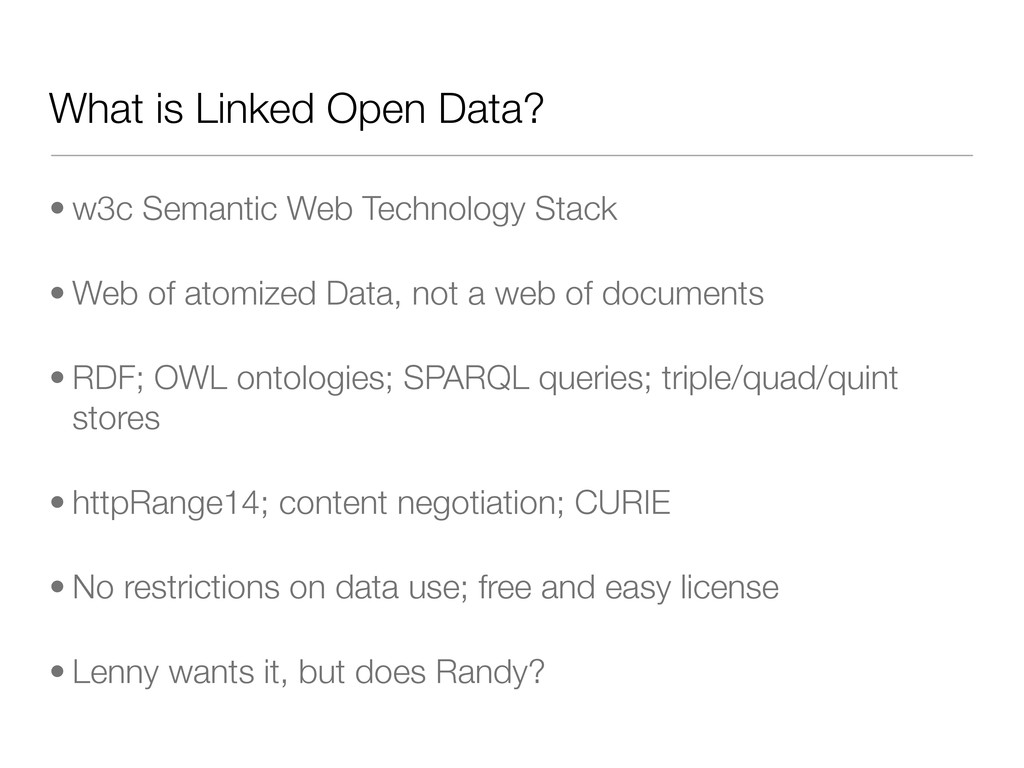 What is Linked Open Data? • w3c Semantic Web Te...