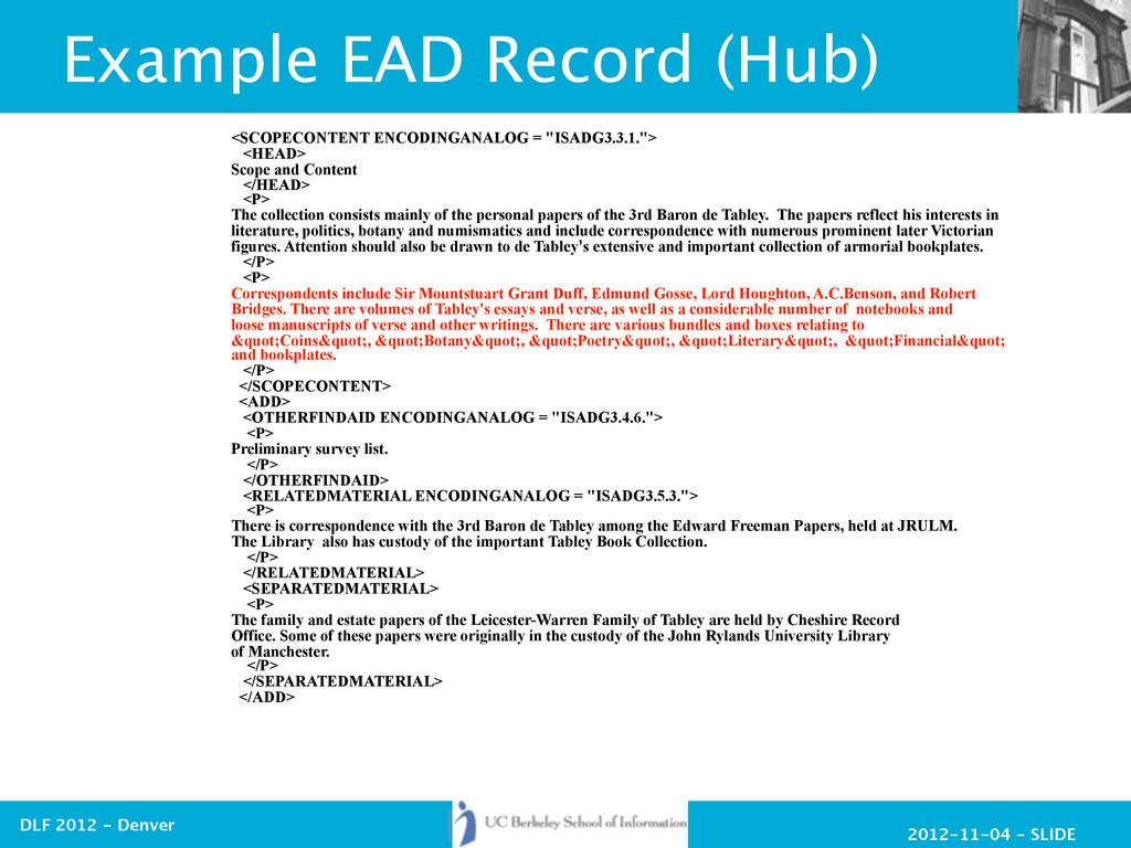 2012-11-04 - SLIDE DLF 2012 - Denver Example EA...
