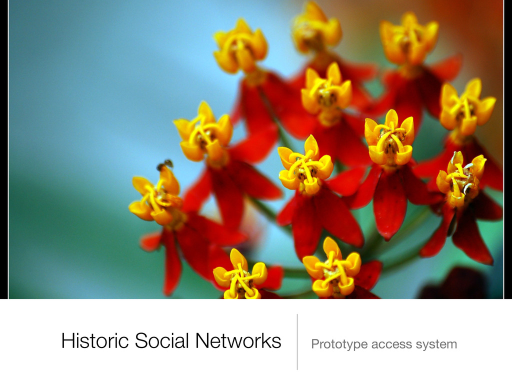 Historic Social Networks Prototype access system