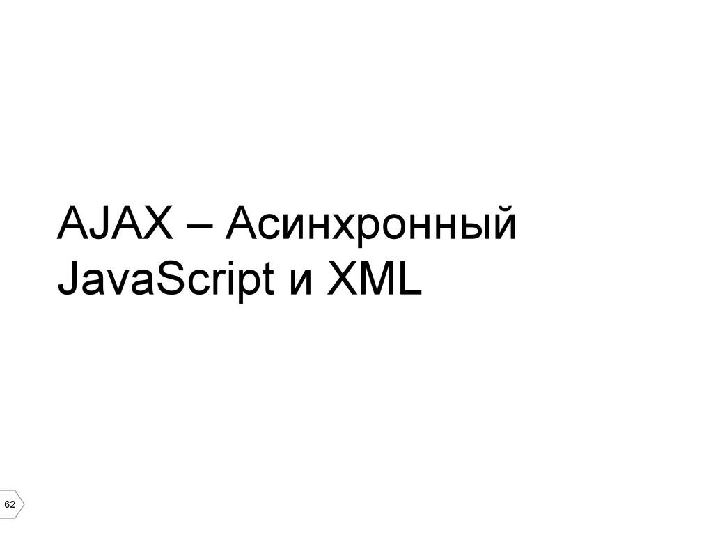62 AJAX – Асинхронный JavaScript и XML