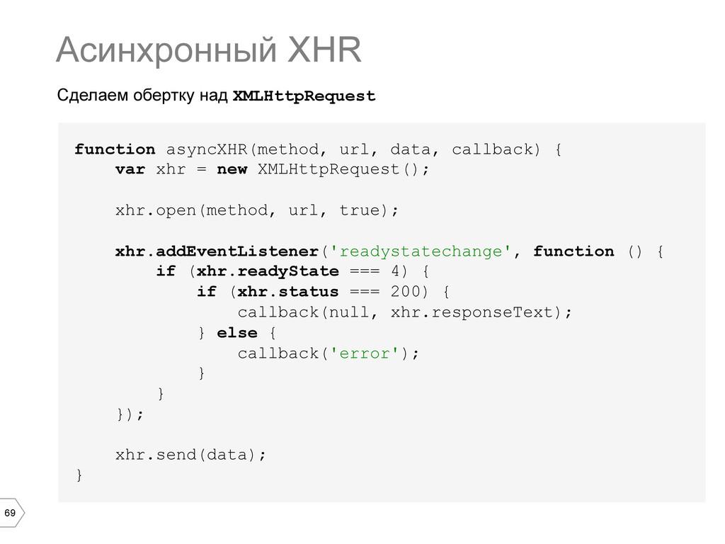 69 Сделаем обертку над XMLHttpRequest Асинхронн...