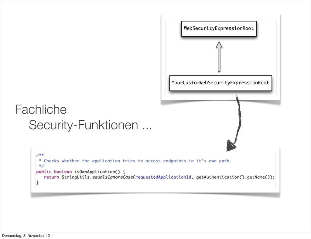 Fachliche Security-Funktionen ... WebSecurityEx...