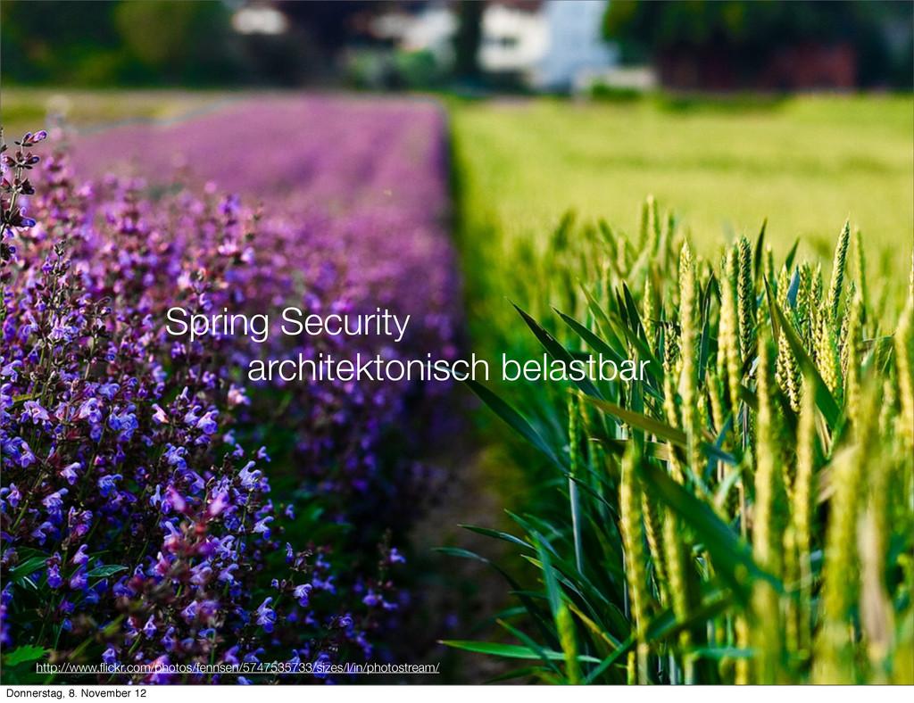 Spring Security architektonisch belastbar http:...