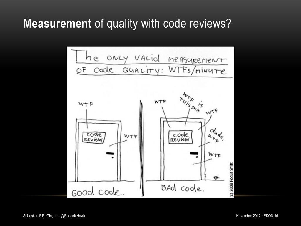 Measurement of quality with code reviews? Novem...