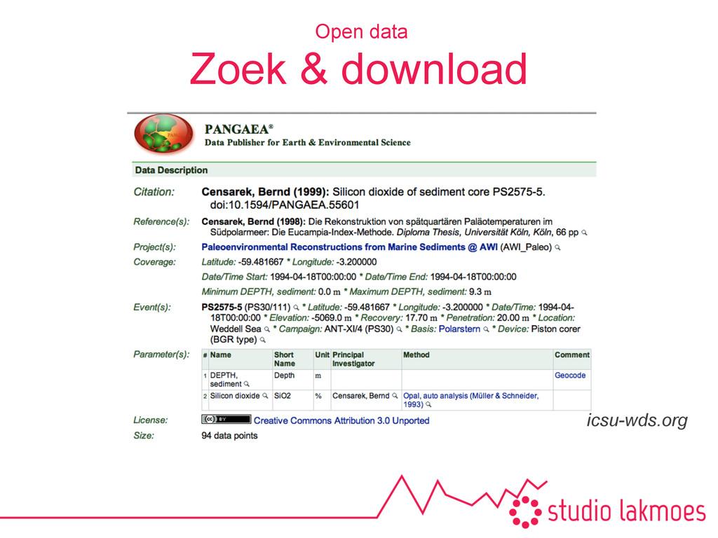 Zoek & download Open data icsu-wds.org