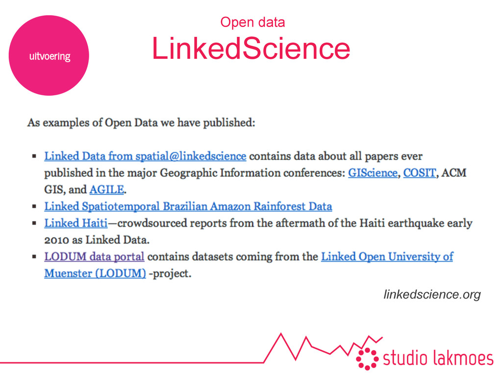 Open data linkedscience.org LinkedScience