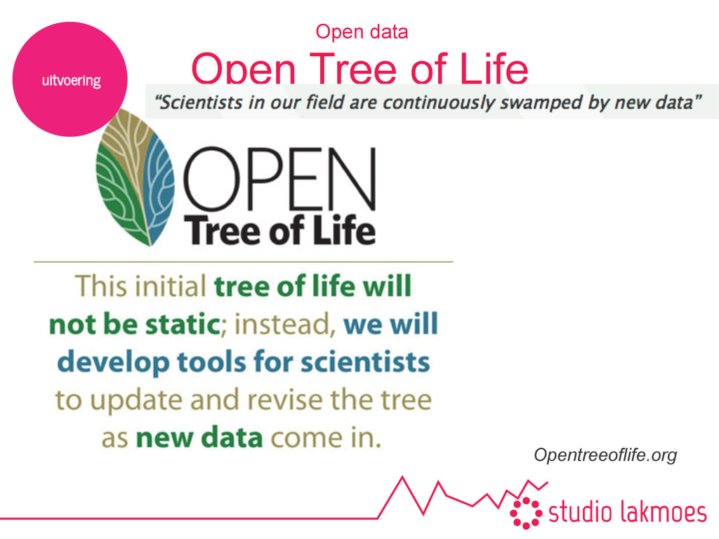 Open Tree of Life Opentreeoflife.org Open data