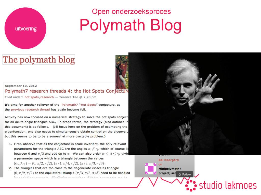 Polymath Blog Open onderzoeksproces