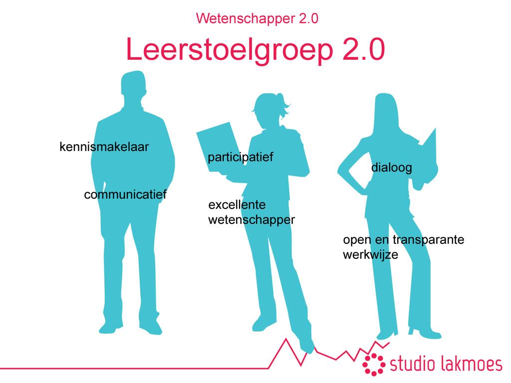 Leerstoelgroep 2.0 Wetenschapper 2.0 participat...