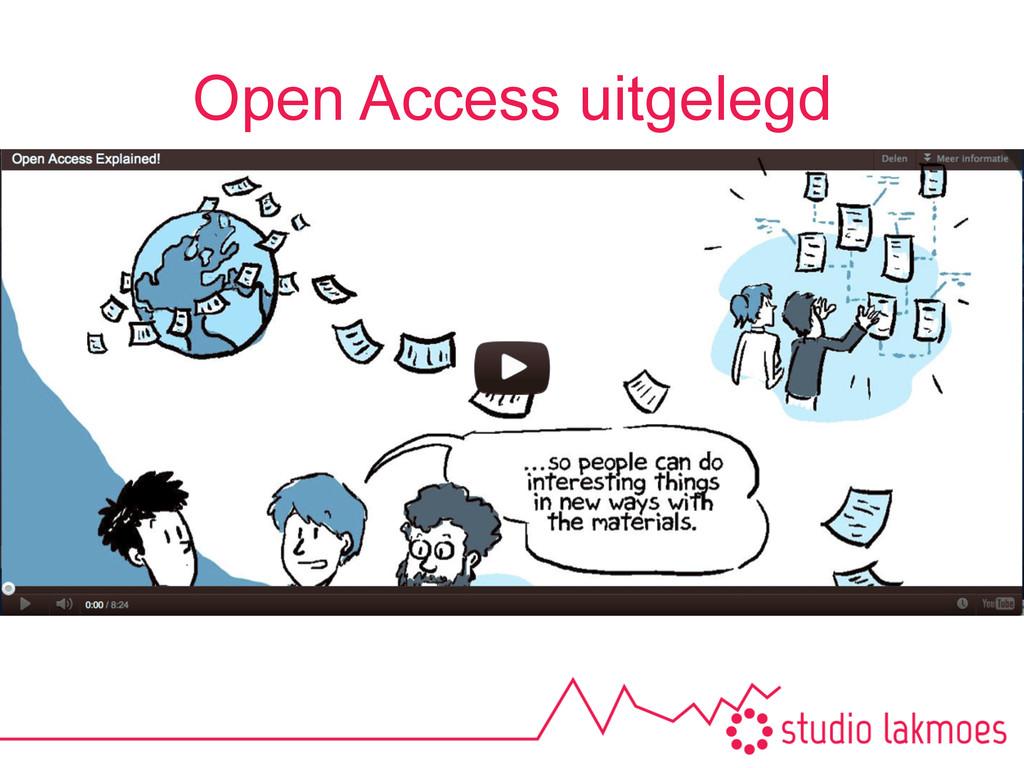 Open Access uitgelegd