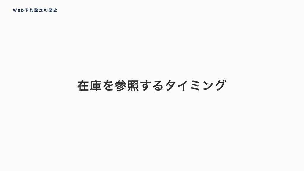 ࡏݿΛর͢ΔλΠϛϯά 8 F C ༧  ઃ ఆ ͷ ྺ 