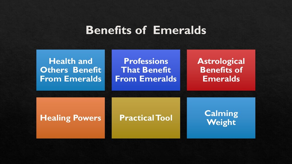 Health and Others Benefit From Emeralds Profess...