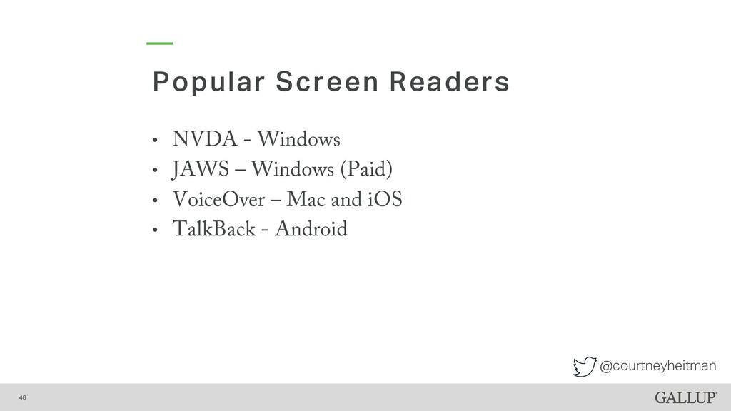 @courtneyheitman Popular Screen Readers 48 • NV...