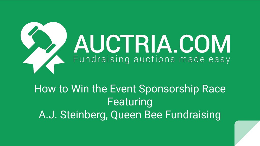 How to Win the Event Sponsorship Race Featuring...